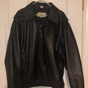 Men's Size L St John's Bay Genuine Leather Jacket